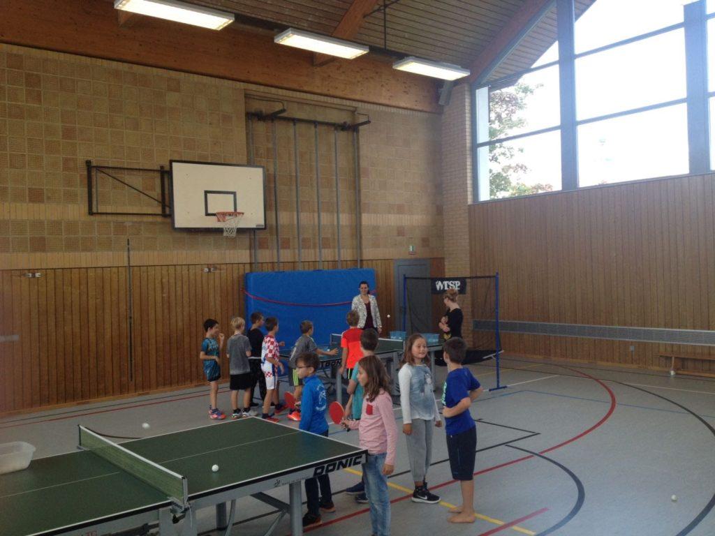 TT-Schnuppertag für die Schüler der Grundschule Buxheim